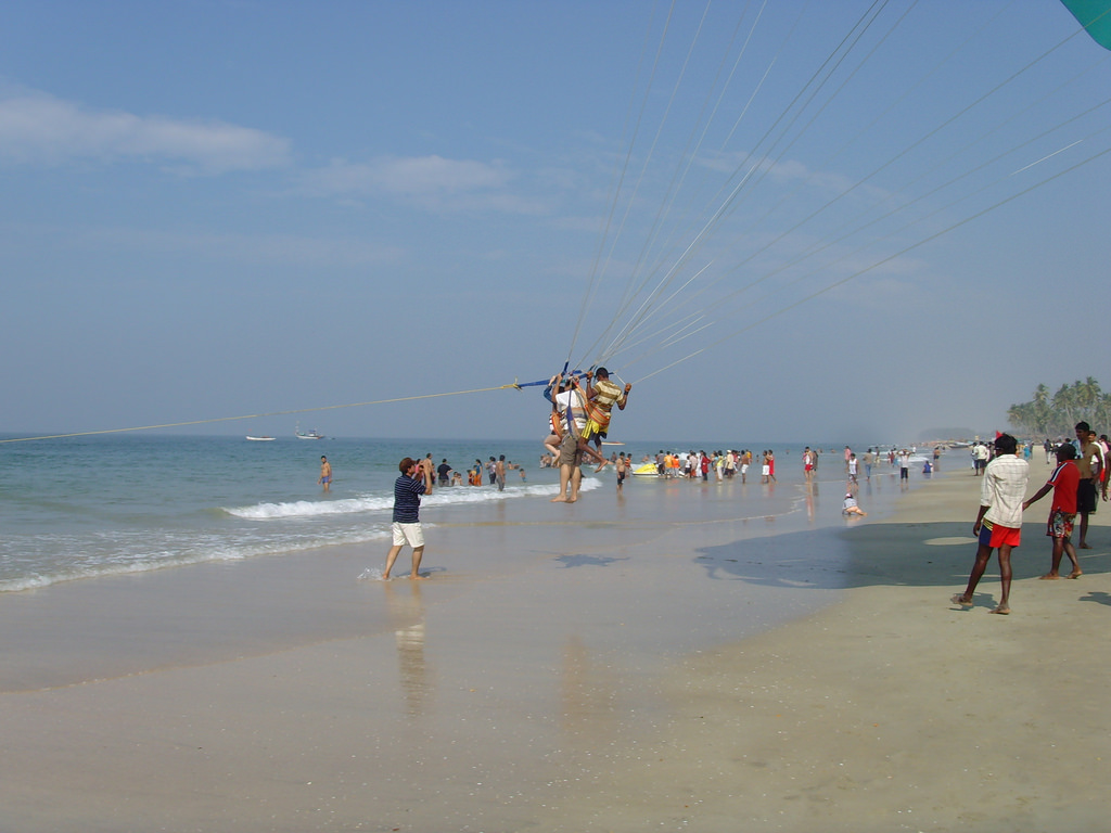 Parasailing at Colva beach