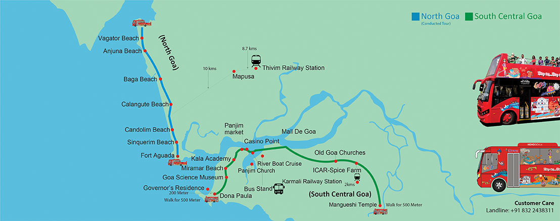 HOHO Goa Route Map